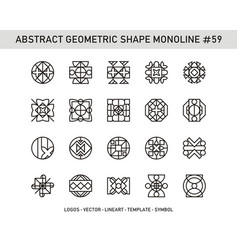 abstract geometric shape monoline 59 vector image