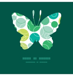Abstract green circles butterfly silhouette vector