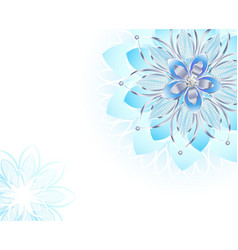 Abstract light blue flower vector