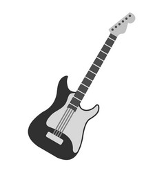 Acoustic guitar icon isolated vector