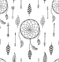 arrow background retro pattern etnic doodle vector image