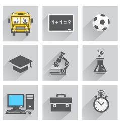 back to school speech and thought vector image