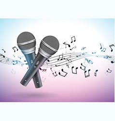 banner on a musical theme with vector image