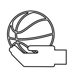 basketball balloon isolated icon vector image