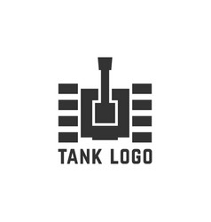 black simple tank logo vector image