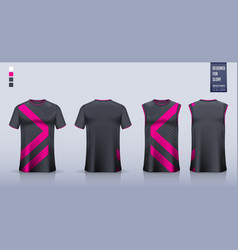 Black t-shirt sport mockup template design vector