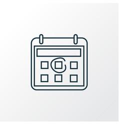 calendar icon line symbol premium quality vector image