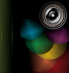 camera lens background vector image