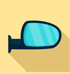 car door mirror icon flat style vector image
