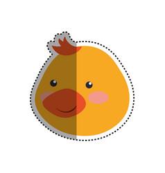 Cartoon duck head infantile vector