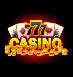 casino banner symbols poker 777 playing cards vector image