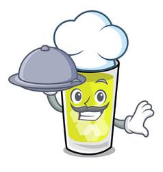 Chef with food mint julep mascot cartoon vector
