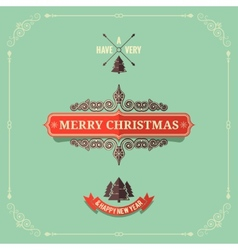 christmas vintage card background vector image