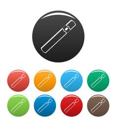 cigar havana icons set color vector image