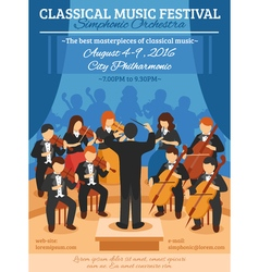 Classical Music Festival Flat Poster vector image