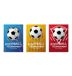 color football tournament flyer background vector image