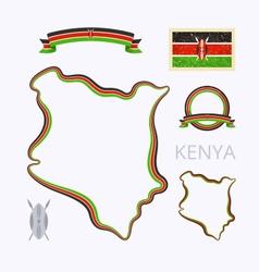 colors kenya vector image