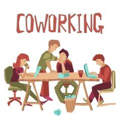 Coworking Center Concept vector