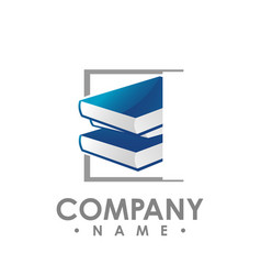 creative book logo book color logo school books vector image