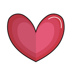 Cute heart to love symbol design vector