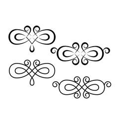 decorative ornament with swirl design elements vector image