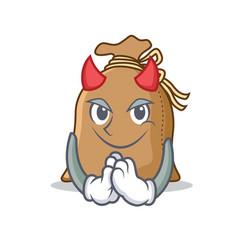 Devil sack mascot cartoon style vector