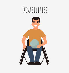 disabled rugby player in a wheelchair vector image