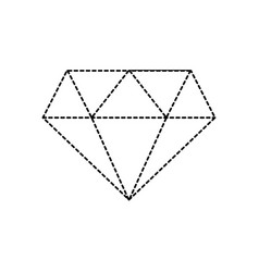 Dotted shape beauty luxury diamond gen accessory vector