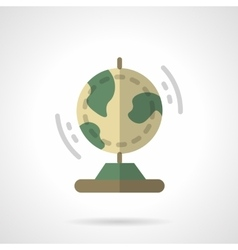 Earth model flat color icon vector
