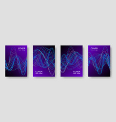 electronic music party poster with neon equalizer vector image