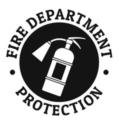 fire department protection logo simple style vector image
