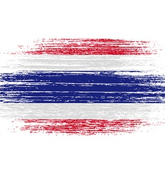 Flag of Thailand with old texture vector image