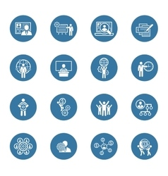 Flat Design Business Icons Set vector image