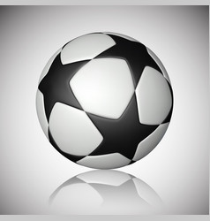 football ball soccer ball with reflection on gray vector image