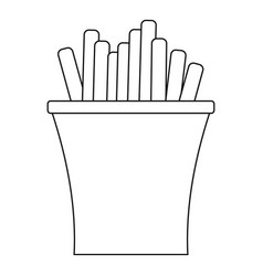 french fry icon outline style vector image vector image