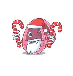 Friendly baby girl shoes dressed in santa cartoon vector