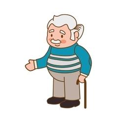 grandfather old person man male icon vector image
