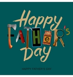 Happy fathers day card vintage retro design vector