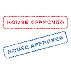 House approved textile stamps vector