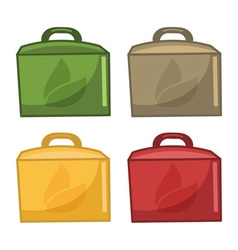Icons paper bags for food vector