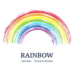 Ink rainbow abstract background vector