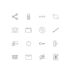 interface linear thin icons set outlined simple vector image