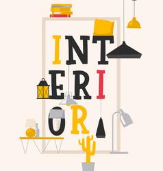 interior poster typographic vector image