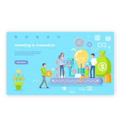 investing in innovation investor website text vector image