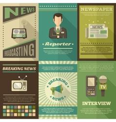Journalist poster set vector