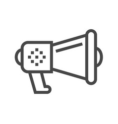 loud speaker thin line icon vector image