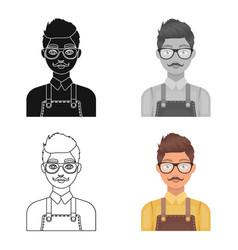 male hairdresserbarbershop single icon in cartoon vector image