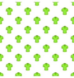Men green polo pattern cartoon style vector