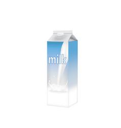 Milk bottle template vector
