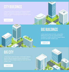 modern cityscape with big buildings vector image